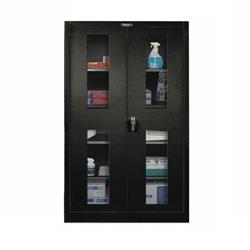 Stationary Safety View Door Cabinet, 36 IN. W, 24 IN. D, 72 IN. H, Black